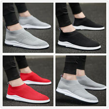 New Men's sports shoes flying woven breathable shoes outdoor shoes running shoes