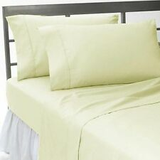 UK Double-Size 1200TC New Egyptian Cotton All Bedding Item Ivory Solid