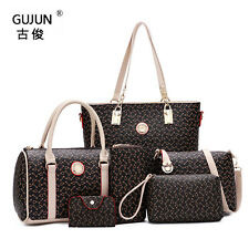 6PCS/Set  Bags Women Shoulder Bag Satchel Handbags Clutch Colorful New Fashion