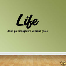 Wall Decal Quote Life Goals Vinyl Decals Inspirational Decal Life Decal (JP92)