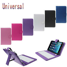 "Universal Leather Case Cover with Micro USB Keyboard For Tablet PC BK 7""/10.1"""