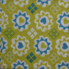 Quilt Fabric Cotton Calico Quilting FQ Green Retro Lime Floral by JoAnn Fabrics