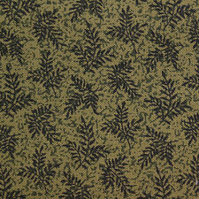 Quilting Fabric Cotton Calico FQ Green w/ Little Black Leaves Fat Quarter