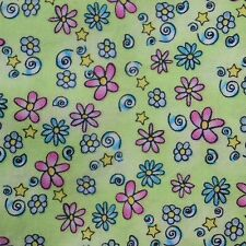 Quilting Fabric Calico Quilt Green Posie Power Floral Marcus: FQ or Cut-to-Order