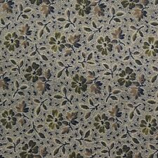 Quilting Fabric Calico Quilt FQ Green Floral: Spectrum of Color by Janet Gossard