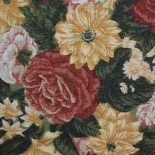 Quilting Fabric Cotton Calico FQ Quilt Green Fall Floral by Designs for R.E.D.