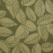 Quilting Fabric Cotton Calico Quilt FQ Quilt Green Fall Leaves 20x17