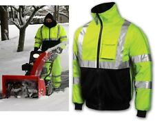 High Visibility Class 3 Safety Bomber Jacket With Fleece Lining