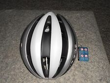 BRAND NEW 2017 GIRO SYNTHE BICYCLE HELMET MATTE WHITE/ SILVER L LARGE SIZE 292g