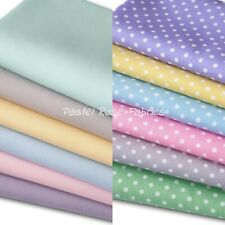 Pastel Polka Dots / Spots Fabric - 100% Cotton Material - Fat Quarter Bundle