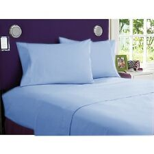 New Bedding Collection 1200TC 100%Egyptian Cotton All UK-Sizes Sky Blue Solid