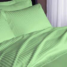 New Bedding Collection 1200TC 100%Egyptian Cotton All UK-Sizes Sage Striped