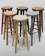 BRAND NEW *SOLID & STURDY* BEECH WOOD KITCHEN BAR STOOLS MADE TO ORDER H: 73 cm