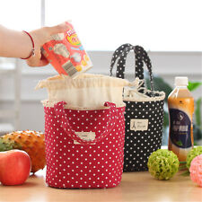 Lunch Bag Thermal Insulated Dot Eiffel Tower Printing Lunch Box Cooler Bag Tote