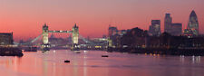 London Sunset River Thames Cityscape Canvas Picture British City Wall Art Print