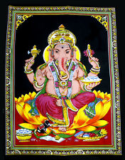 Indian Lord Ganesha Sequin Cotton AUS Wall Hanging