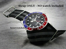 SUPERB  QUALITY REFINED NYLON NATO®  WATCH STRAP FOR ROLEX GMT YACHTMASTER  20mm