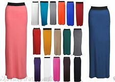 Ladies New Womens Gypsy Long Jersey Maxi Dress Skirt Ladies Skirt Size UK 8-26