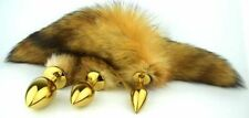 Sex Toy New Faux Fox Tail Butt Anal Golden Plug Sexy Romance Games Toy