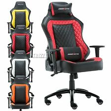 Faux Leather Reclining Chair Sports Racing Gaming Office Computer Luxury Chair