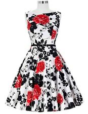 Women Plus Size Casual Vintage Floral Print Summer Party Dress PQ298