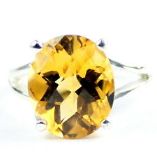 Citrine, 925 Sterling Silver Ring-Handmade, SR132