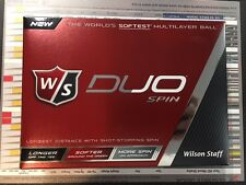 New 2017 Wilson Duo White Spin Golf Balls 12 Balls(1 Dozen)