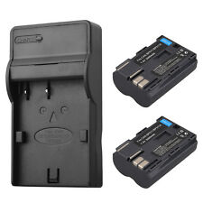 2 x Replacement BP-511 BP511A Camera Battery & Charger For Canon EOS 40D 300D 5D