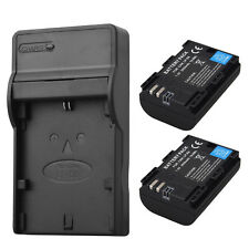 2 x LP-E6 Rechargerable Li-ion Battery + Charger for Canon EOS 5DS R 5D Mark II