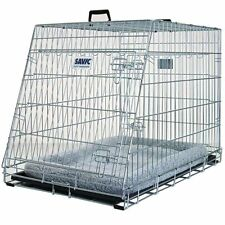 Dog Travel Crate Cage Car Transport Travel Cushion Sloping Front Comfortable