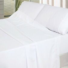 Microfiber Bed Sheet Set Flat Fitted Pillowcase Wrinkle Fade Stain Resistant