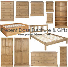 Cotswold Chunky Solid Pine Bedroom Furniture inc. Wardrobe, Chests & Bedsides