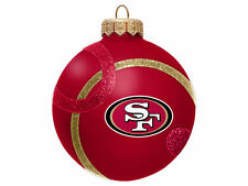 Official NFL San Francisco 49ers 3' Red Glass Ball Ornament New In Box List $20