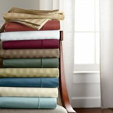 1200 TC Egyptian Cotton Complete Bedding Items All Striped Color Uk Double
