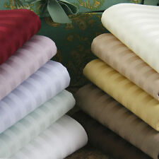 Uk Super King 1200 TC Egyptian Cotton Complete Bedding Items All Striped Color