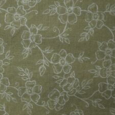 Quilt Fabric Cotton Calico Green Floral by JoAnn Fabrics: FQ or Cut-to-Order