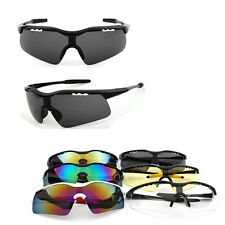 Mens Polarized Lens Aviator Outdoor Sports Eyewear Driving Cycling Sunglasses