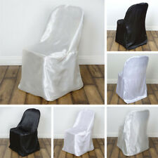 50 pcs SATIN FOLDING CHAIR COVERS Wedding Reception Ceremony Party Decorations