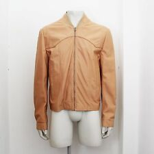 New Maison Martin Margiela Peach Tone Leather Jacket Size 54 BNWT RRP £1010