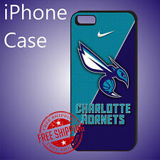 ED# NBA Charlotte Hornets Basketball Case Cover iPhone 8 8+ 7+ 6s+ 6+ se 5c 5s