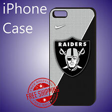 ED# NFL Oakland Raiders Football Case Cover For iPhone 8 8+ 7+ 7 6s+ 6+ se 5c 5s