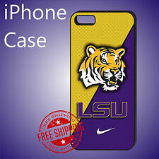 ED# LSU Louisiana State University Teams Case Cover iPhone 7+ 7 6s+ 6+ se 5c 5s