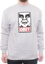 Obey Clothing | OG Face Crew | Heather Grey | RRP £60
