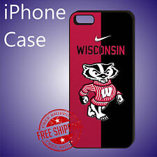ED# Wisconsin Badgers Football Teams Case Cover iPhone X 8+ 7+ 7 6s+ 6+ se 5c 5s