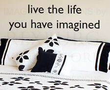 Wall Decal Quote Sticker Vinyl Art Lettering Adhesive The Life You Imagined IN27