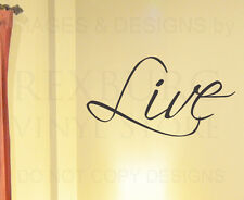 Wall Art Decal Vinyl Sticker Quote Lettering Saying Large Live Motivational W4