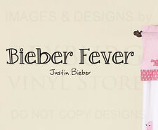 Wall Art Decal Sticker Quote Vinyl Lettering Removable Bieber Fever Justin B61