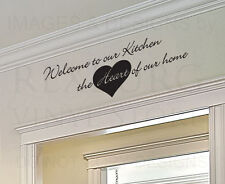 Wall Art Decal Sticker Quote Vinyl Removable Large Welcome to Our Kitchen KI32