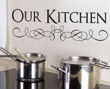 Wall Decal Sticker Quote Vinyl Art Lettering Large Our Kitchen Kitchen KI16