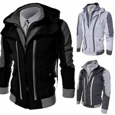 New Men's Slim Collar Jackets Fashion Jacket Tops Casual Coat Outerwear M-3XL d8